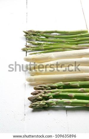 asparagus variety - stock photo