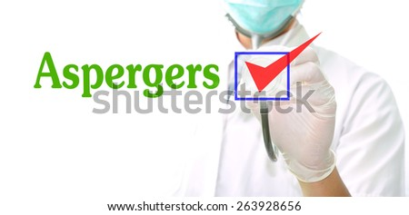 aspergers - stock photo