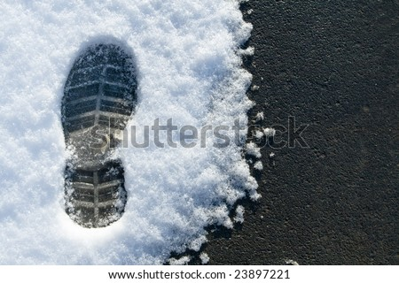 asphalt and snow