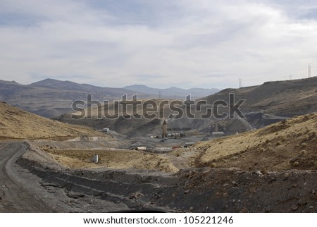 Asphalt batch plant, Nevada, USA - stock photo
