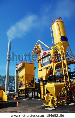asphalt plant - stock photo