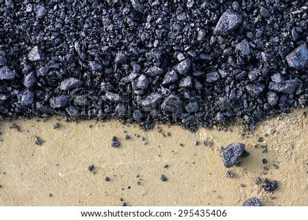 asphalt raw material - stock photo