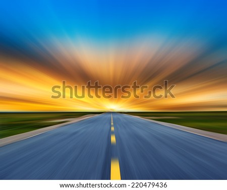 Asphalt road. - stock photo