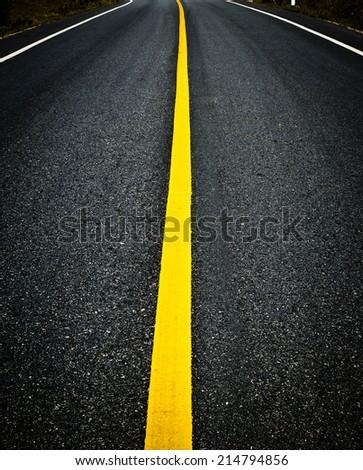 asphalt road background - stock photo