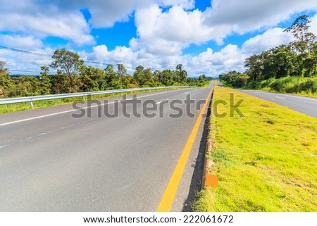 asphalt road - highway - stock photo