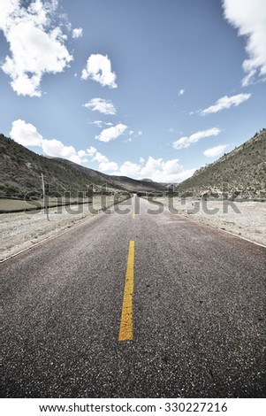 Asphalt road in beautiful place