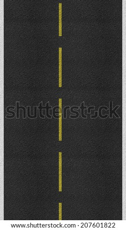 Asphalt road texture and lines of traffic - stock photo