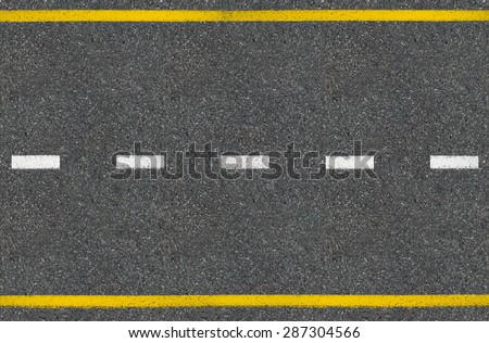 Asphalt road top view  - stock photo
