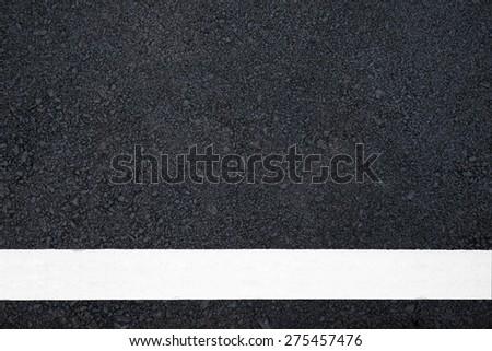 Asphalt road with marking line - stock photo