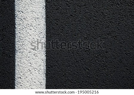Asphalt texture with white line