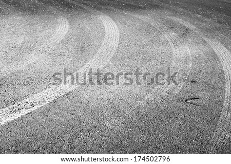 Asphalt Traces - stock photo