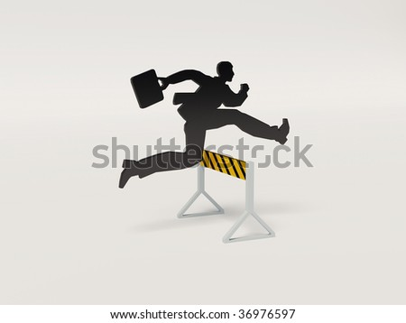 aspiring of man to the high results - stock photo
