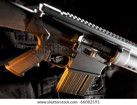 assault rifle - stock photo