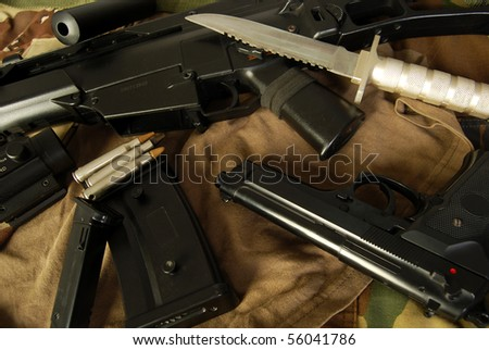 Assault weapons - stock photo