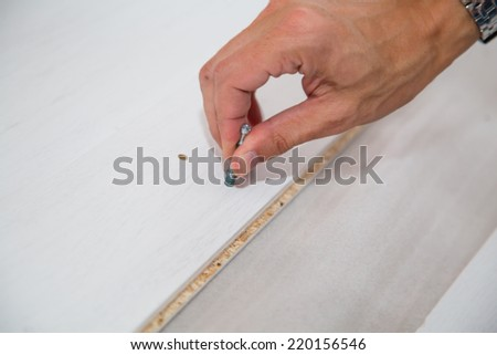 Assembling  Furniture - stock photo