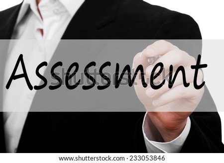 Assessment concept  - stock photo