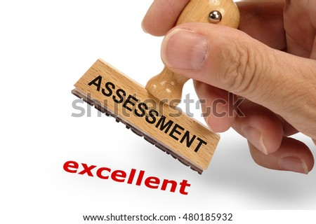 assessment excellent printed with stamp