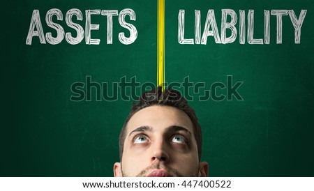 Assets Liability - stock photo