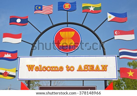 Association of South East Asian Nations sign