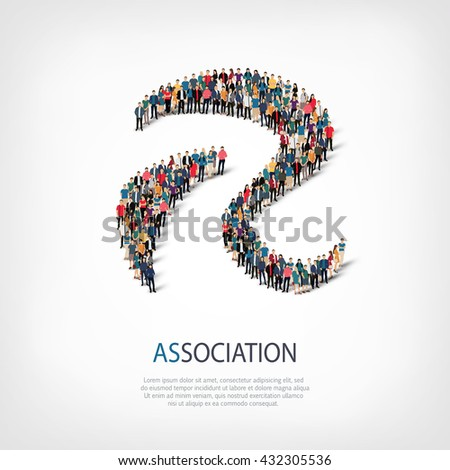 association people sign 3d - stock photo