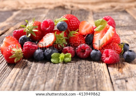 assorted berry fruit - stock photo