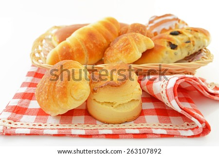 Assorted breads - stock photo