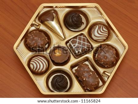 Assorted Chocolates - stock photo