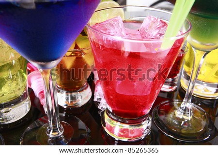 Assorted cocktails fiesta style - stock photo