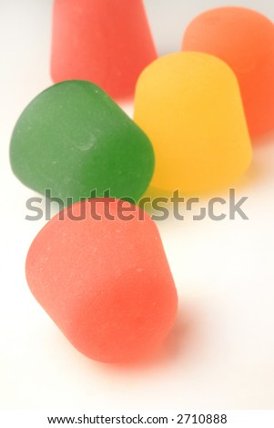 assorted color gumdrops - stock photo