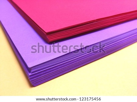 Assorted Colored Pile of Papers