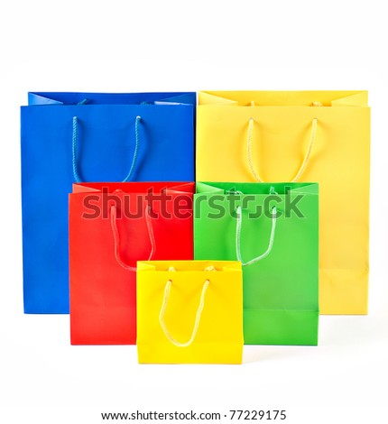 assorted colorful shopping bags. sale concept. shop