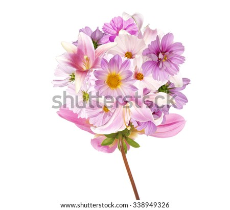 Assorted flower.Beautiful bouquet pink flowers. - stock photo
