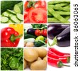 assorted fresh vegetables - stock photo