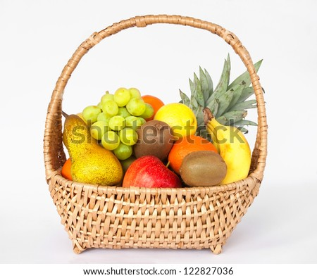 Assorted fruits in basket