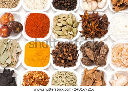 Assorted Indian spices