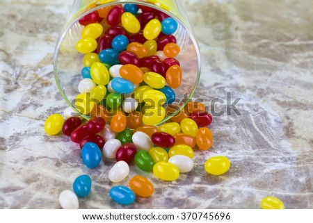 Assorted jelly beans - stock photo