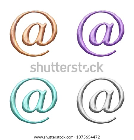 Assorted Pastel Color Painted Wood Sign Stock Illustration