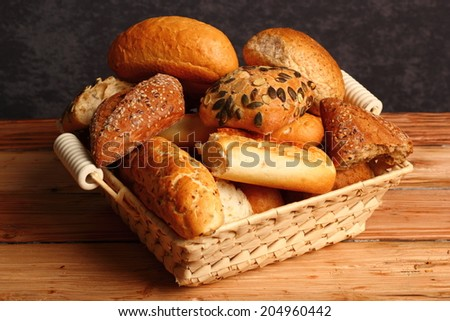 Assorted Rolls and Bread - stock photo