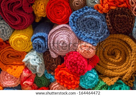 Assorted Rugs - stock photo