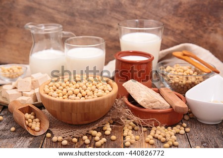 assorted soya product - stock photo