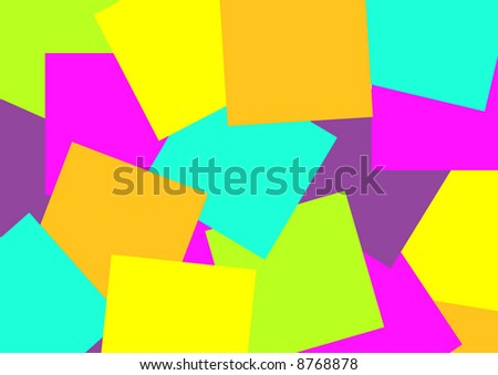 assorted sticky notes - stock photo