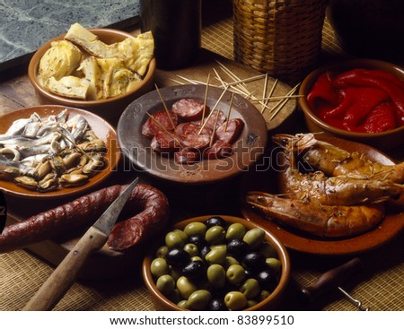 Assorted tapas