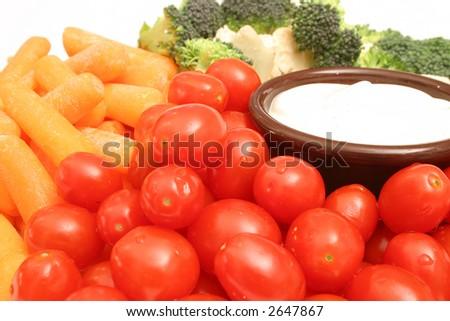 assorted veggies upclose - stock photo