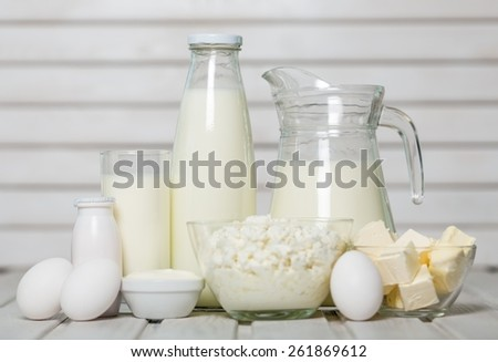 Assortment. Dairy products - stock photo