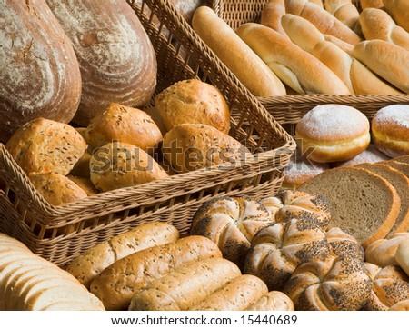 Assortment of baked goods - stock photo