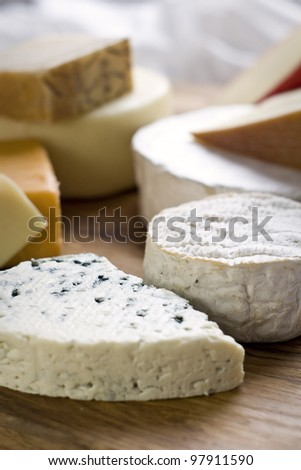 assortment of cheeses - stock photo