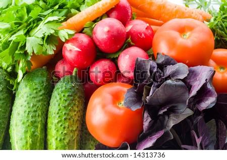 Assortment of fresh vegetables - stock photo