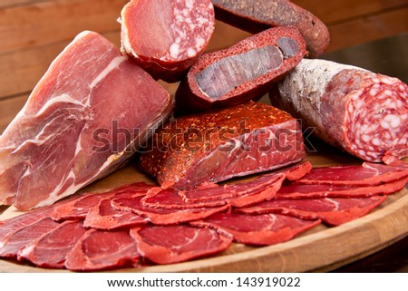 Assortment of meat - stock photo