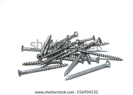 Assortment of Nails/Screws - stock photo