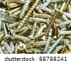 assortment of  screws - stock photo